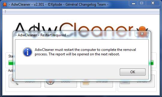 AdwCleaner - PC-Neustart