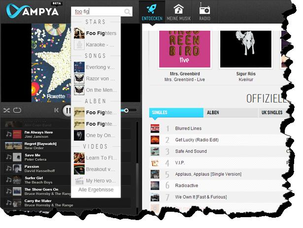 Ampya Musik suchen