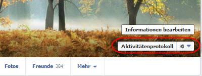 Facebook Chronik Löschen