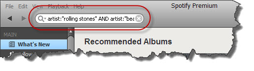 Spotify advanced search