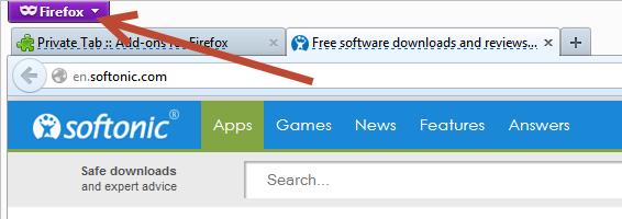 Privat Modus Firefox