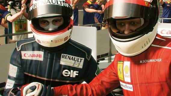 F1 2013 Boxengasse. Bild: Codemasters