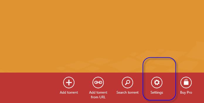 Dans le bas de l'écran, vous trouverez un bouton de configuration qui vous mènera à d'autres options