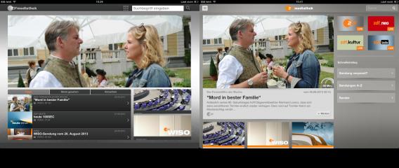 ZDF-mediathek-Startseiten im Vergleich