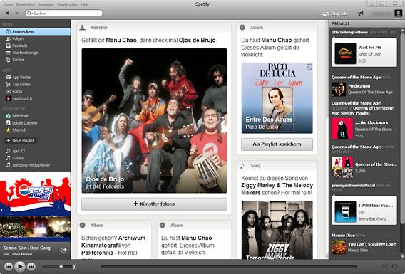 Spotify Desktopanwendung