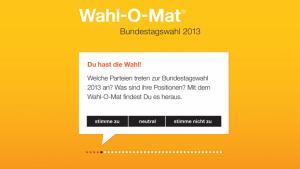 Wahl-O-Mat zur Bundestagswahl 2013 online