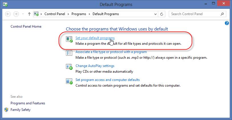 """Cliquez ensuite sur l'option """"Définir comme programme par défaut""""."""