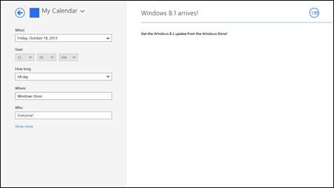 Windows 8.1 Datum Marktstart
