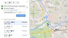 VBB-Abfahrtzeiten für Berlin und Brandenburg in Google Maps nachschlagen