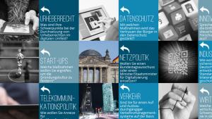 Webseite zur Bundestagswahl: Standpunkte der Parteien zur Netzpolitik