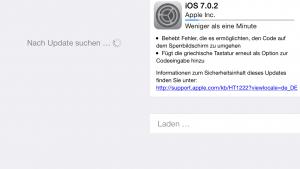 Update iOS 7.0.2: Sicherheitslücke im Sperrbildschirm behoben