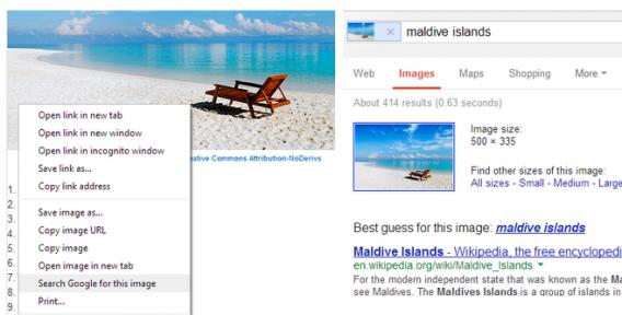Google Chrome nach Bild suchen