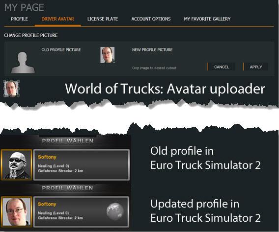 Tela do gerenciador de avatar