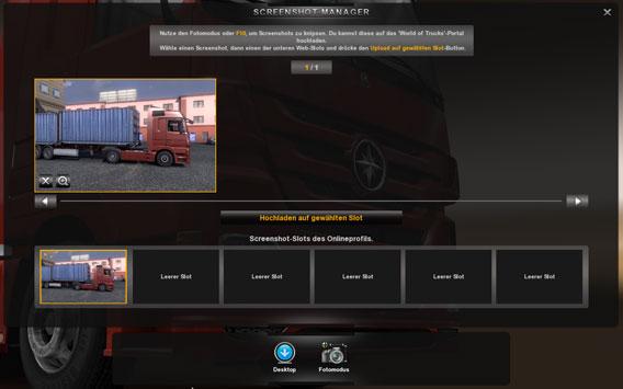 Visualizador de imagens no Euro Truck Simulator 2