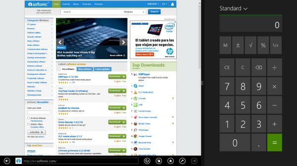 Calculette Windows 8.1 Snap