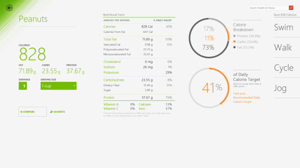 Health and Fitness Windows 8.1