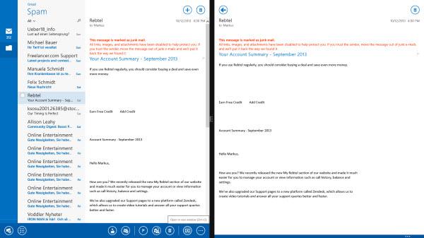 Courrier Windows 8.1