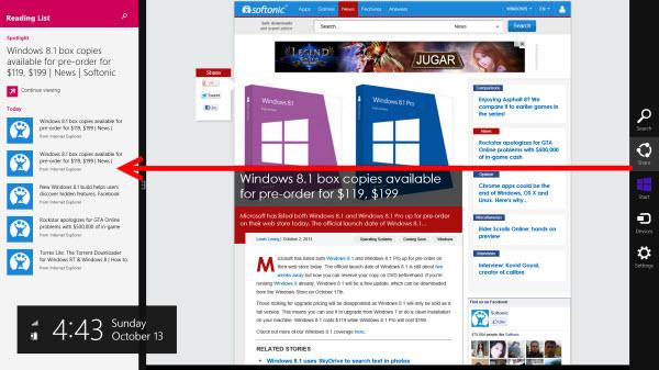 Reading List Windows 8.1