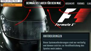F1 2013: Die Formel 1 kommt noch in diesem Jahr auf den Mac