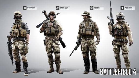 Battlefield 4 Multiplayer Classes