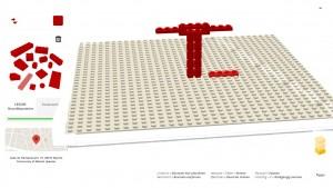 Lego-Steine in Chrome zusammenbauen und mit Google Maps teilen