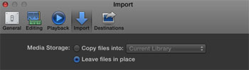 Final Cut Pro X Import - Preference