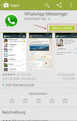 android whatsapp installieren