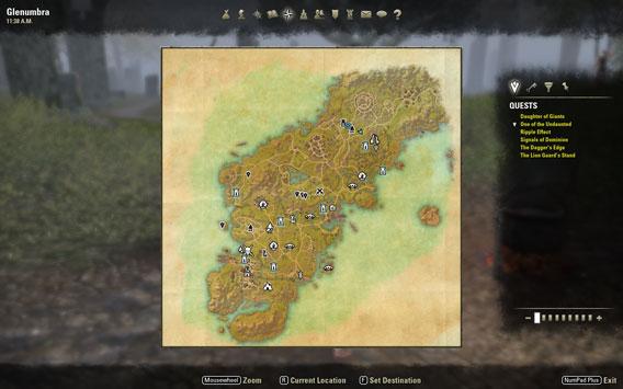 Elder Scrolls Online - Mappa