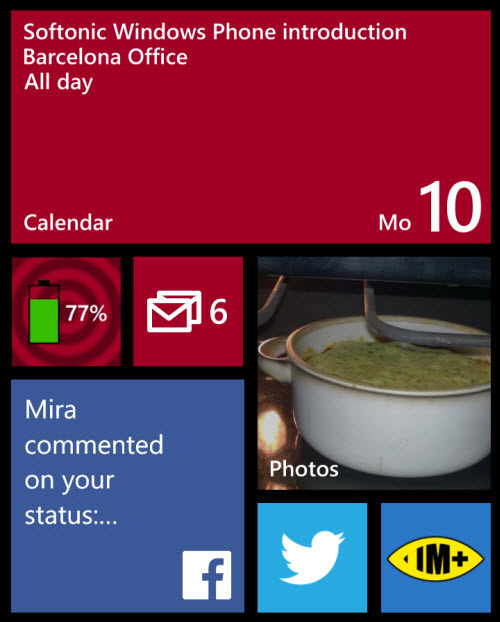 Windows Phone 8 - more Live Tiles
