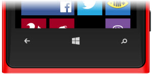 The Windows Phone buttons