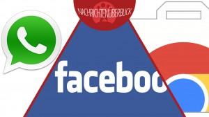 Stiftung Warentest beurteilt WhatsApp, Facebook stellt Messenger ein, Aufschub für Chrome Erweiterungen