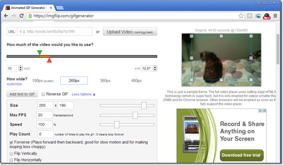 Web-App - Imgflip Gifgenerator