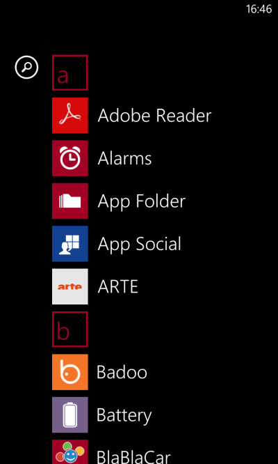 Windows Phone 8 - alternatively, pick Live Tiles by hand