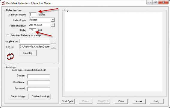 PassMark Rebooter  na PC