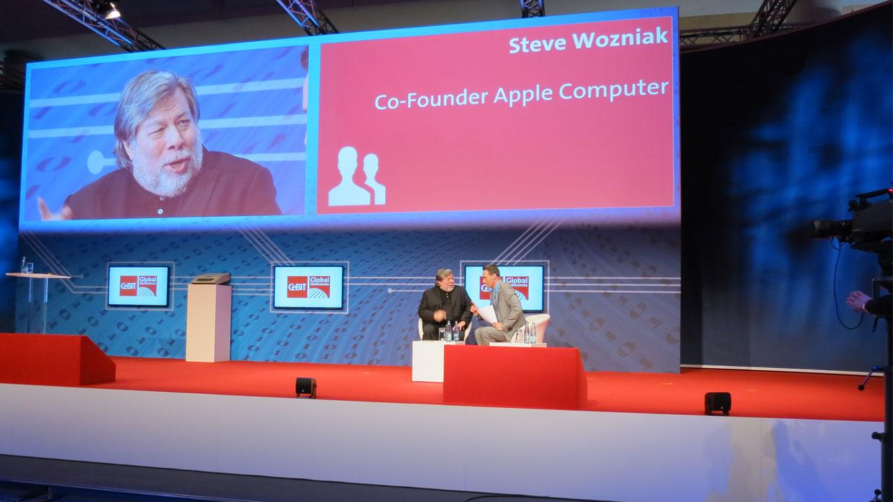 """""""Edward Snowden ist ein Held"""" – Steve Wozniak auf der CeBIT 2014"""