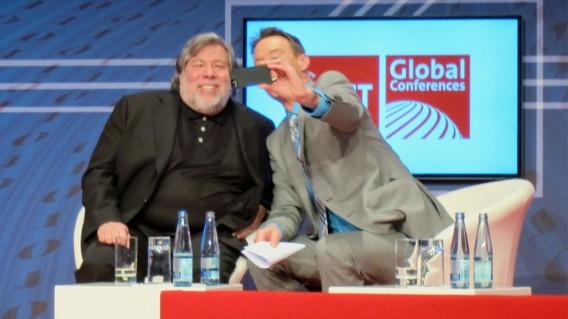Steve Wozniak Cebit 2014 Selfie