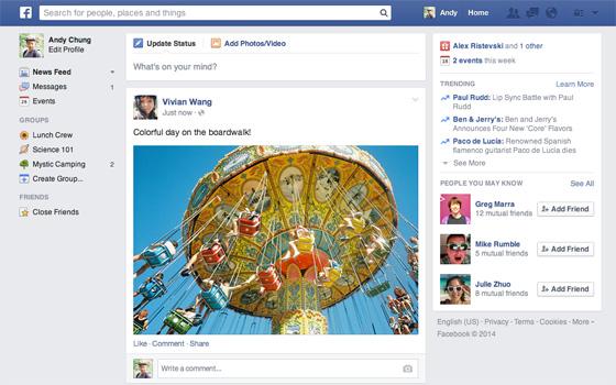 Facebook: Neuer Look für die Neuigkeiten