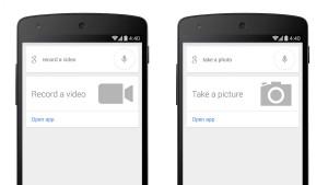 Google Now: Neue Sprachbefehle zum Schnellstart der Kamera für Fotos und Videos