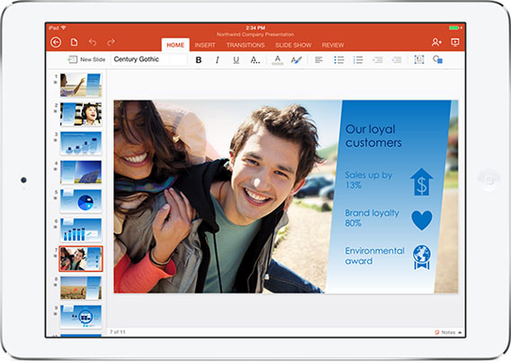 Microsoft Office für iPad