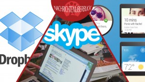 Skype verbessert Akkulaufzeit, Dropbox vereinfacht Konten-Wechsel, Google stellt Android Wear vor