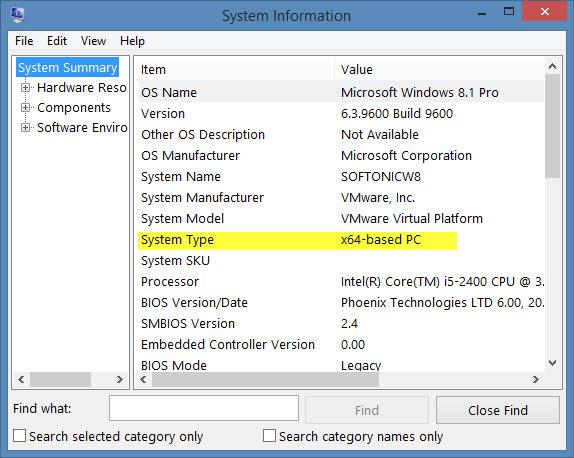 Informações de Sistema do Windows traz dados interessantes