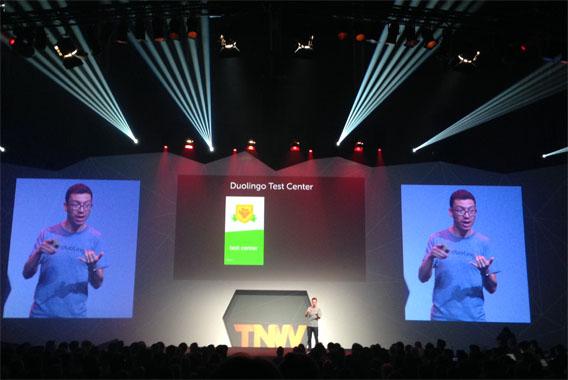 Luis von Ahn von Duolingo auf der TNW Konferenz in Amsterdam