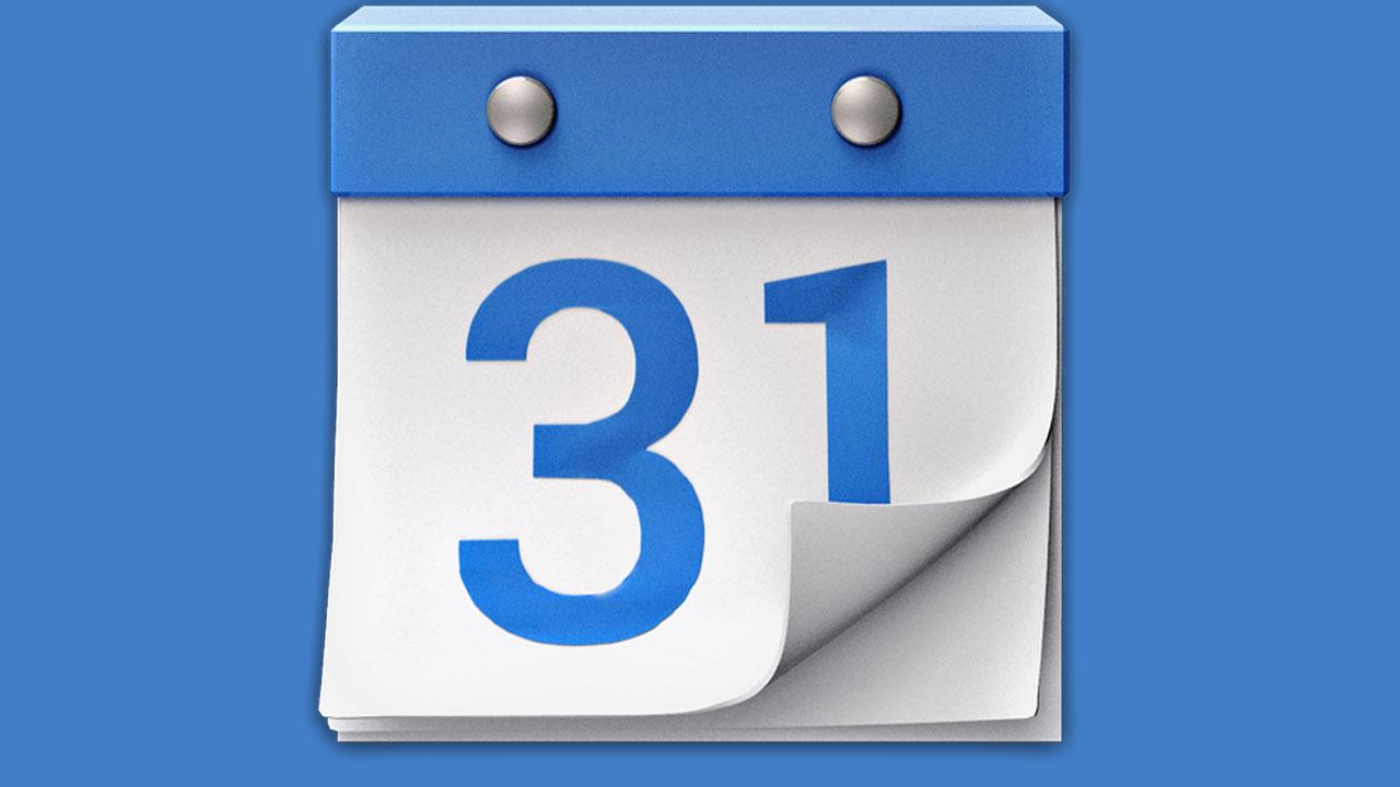 Google Kalender-App mit minimalistischem Design und Anbindung an Google+