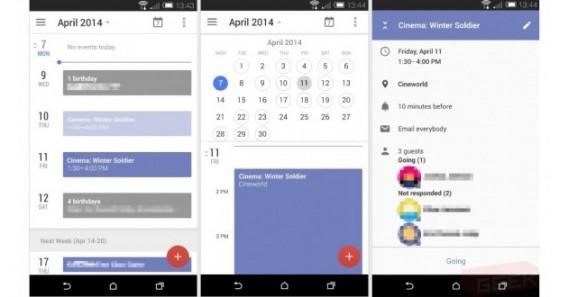 Google Kalender-App Screenshot Leak