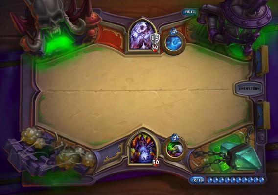 Hearthstone: Der Fluch von Naxxramas Spielfeld Screenshot