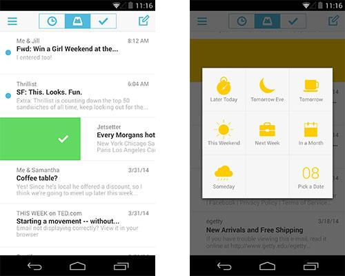 Mailbox-App für Android Screenshot