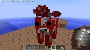 Mit Minecraft – Pocket Edition 0.9 kommt die Pilzkuh als neues Tier auch auf mobile Geräte