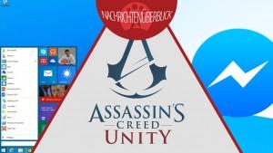 Coop-Modus für Assassin's Creed Unity, Gerüchte zu Windows 9 und 8.2, Facebook befragt Nutzer zu Messenger