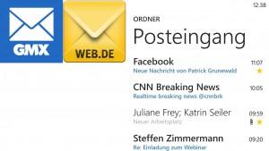 GMX und Web.de veröffentlichen eigene Windows Phone-Apps