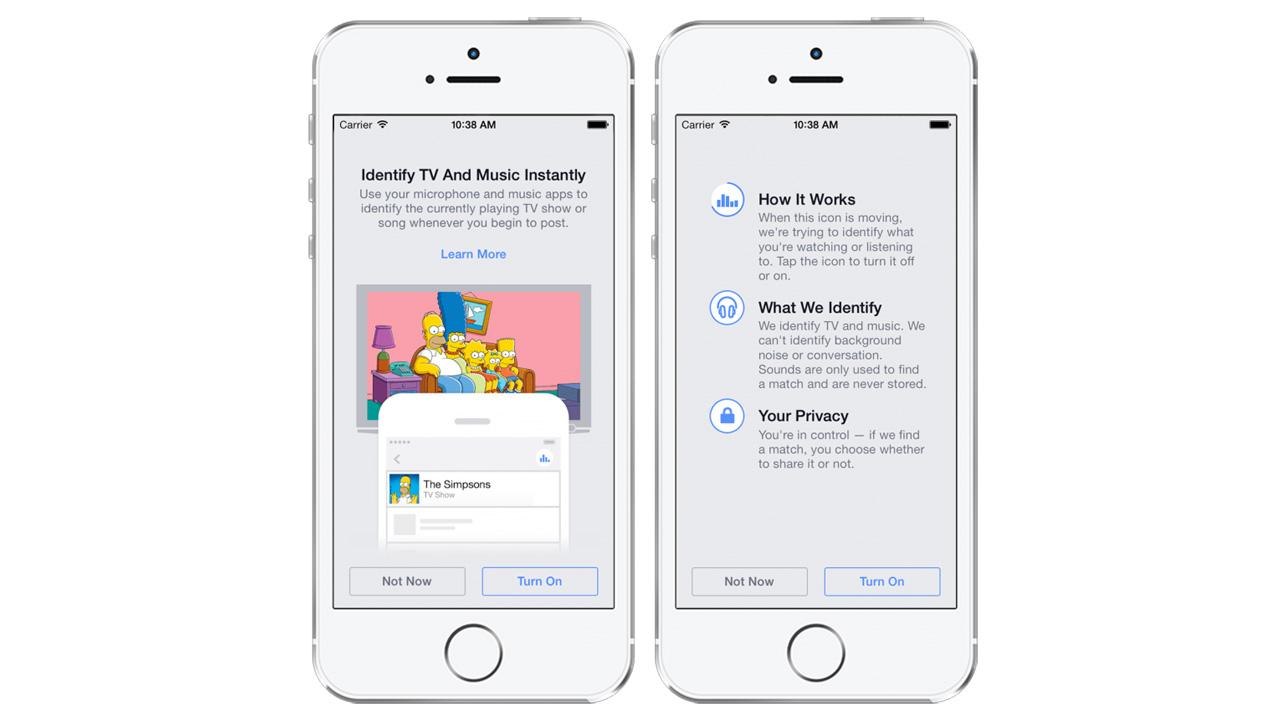 Facebook: Automatische Erkennung von Musiktiteln, Filmen und TV-Serien für Status-Updates